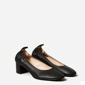 Everlane The Day Heel Black Leather Size 10